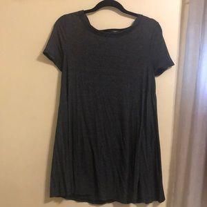 Heathered gray t-shirt dress
